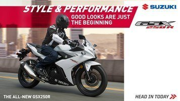 Suzuki Fall Suzukifest Sportbike (except GSX-R100 models) and Standard Motorcycle Financing as Low as 1.99% APR for 36 Months or Customer Cash Offer